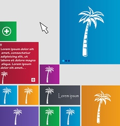 Palm icon sign buttons Modern interface website vector