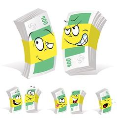paper money cartoon vector image