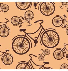 Pattern of retro hipster styled bycicle on a coffe vector