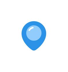 pin icon blue monochrome color vector image