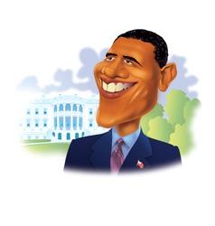 President Obama vector image
