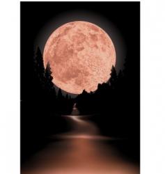 Red moon vector