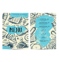 restaurant and cafe food menu design vector image