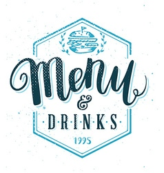 Restaurant Menu Template Hand Drawn Calligraphy vector
