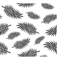 seamless pattern black palm leaves vector image