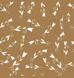 seamless pattern of stylized lilies or tulips vector image