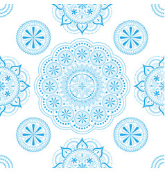 seamless pattern with openwork floral ornament vector image