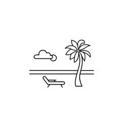 seaside beach view at resort relaxing summer vector image