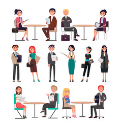 seminar of business collection in vector image