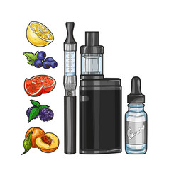 Set e-cigarette vector