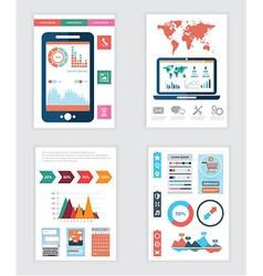 Set of Flyer Brochure Design Templates Geometric vector