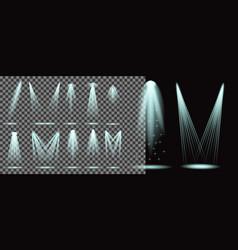 set realistic lightning spotlights vector image