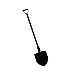 shovel construction isolated icon vector image