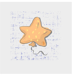 Star shaped balloon on grunge background cute vector