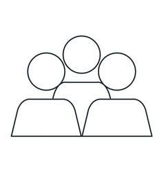 teamwork avatars isolated icon vector image