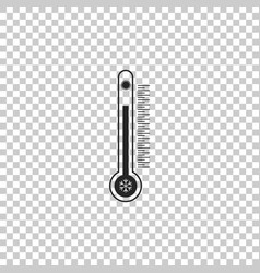 thermometer with scale measuring heat and cold vector image