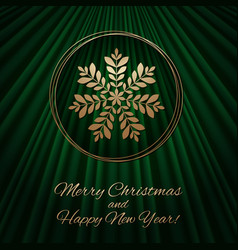 This is a green and gold christmas background vector