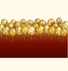 transparent balloon with golden stars vector image