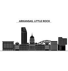 Usa arkansas little rock architecture vector