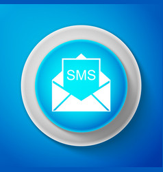 White envelope icon received message concept vector