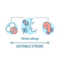 Winter allergy concept icon seasonal allergic vector