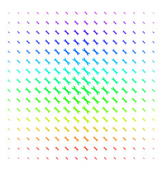 wrench shape halftone spectral pattern vector image