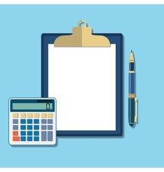 Clean sheet of paper for calculations vector image