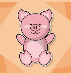 cute piggy baby animal cartoon image vector image vector image