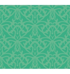 Elaborate Bluish-Green Seamless Pattern Background vector image vector image