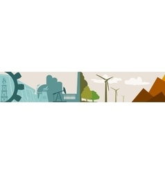 Energy and power icons ecology banner vector