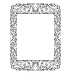 frame with laurel black isolated vector image vector image