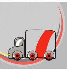 funny truck vector image vector image