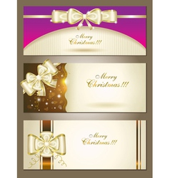 greeting cards with white bows vector image