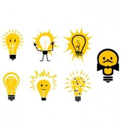 Light bulbs symbols vector