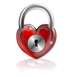 locked heart concept vector image vector image