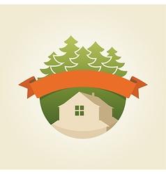 mountain house 4 vector image