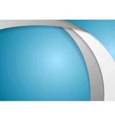 Corporate wavy background vector image vector image