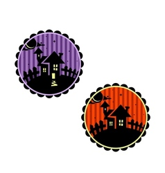 Halloween banners or cupcake toppers vector image