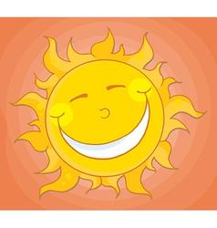 Happy Sun Mascot Cartoon Character vector image vector image
