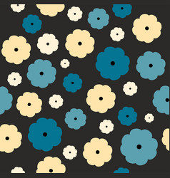 seamless floral pattern on a black background vector image vector image