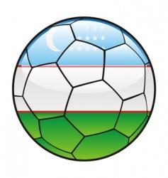 uzbekistan flag on soccer ball vector image vector image