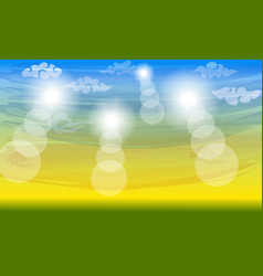 color sunny summer background chinese clouds vector image