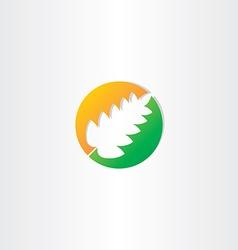 half autumn and half spring leaf icon vector image vector image