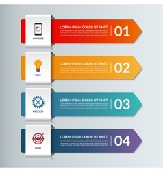 infographic options banner with 4 arrows vector image