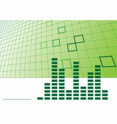 music background with equalizer vector image vector image