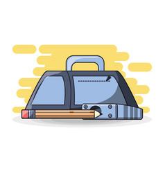 school supplies education concept vector image