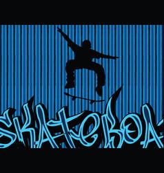 skataboarding background blue vector image