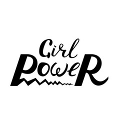 modern brush inscription girl power vector image vector image