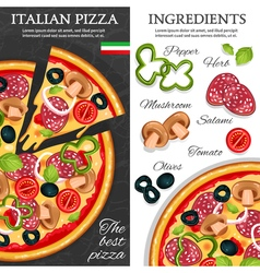 Pizza Vertical Banners vector image vector image