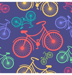 Retro hipster styled different colored bycicles vector image vector image